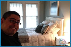 Fred Campos rented a house off of AirBnB.com
