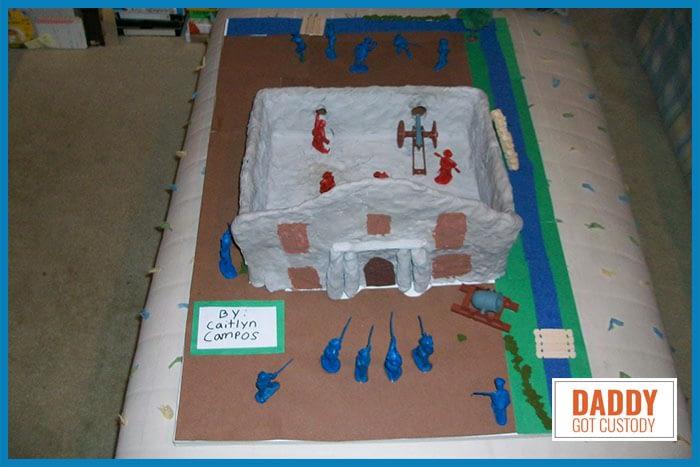 Caitlyn's 4th Grade Alamo Project