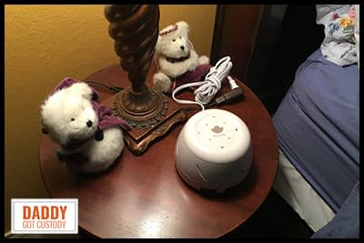 AuCuTee White Noise Machine Product Review - https://www.DaddyGotCustody.com