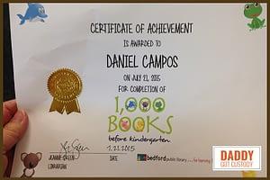 Daniel Campos Finished 1000 Books Before Kindergarten