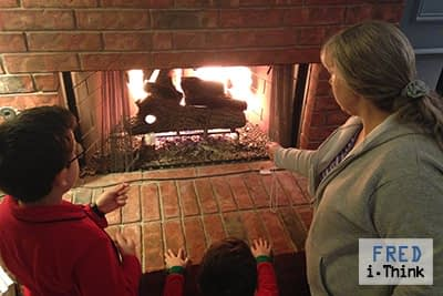 Who Needs Camping to Bond? Marshmallows in a Fireplace
