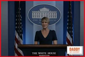 Claire Underwood played by Robin Wright